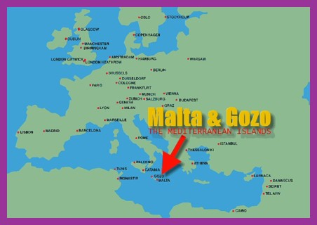 Malta's location