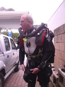 Thomas ready to dive the Optima websize