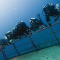 Diving CCRs on the Um El Faroud in Malta