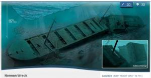 Shipwrecks in 3D in Canada