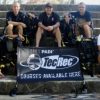 First PADI Rebreather Instructor Course in Indonesia