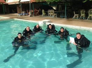 Martin Robson shows that even a bunch of PADI Course Directors and Staff can be kept under control