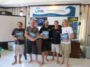 New PADI TecRec Instructors in Koh Tao, Thailand