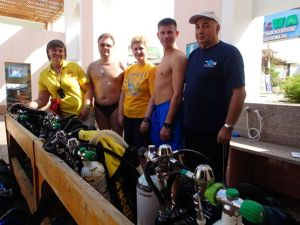 My first  Rebreather Diver students