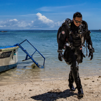 PADI Tec CCR Instructors on JJ-CCR rebreather